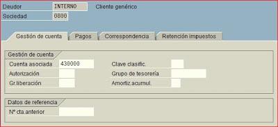 Datos de sociedad de cliente SAP