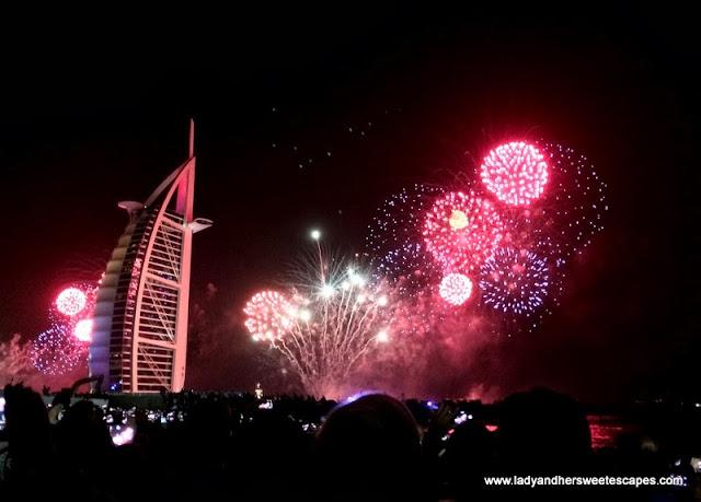 2014 Fireworks at Burj Al Arab