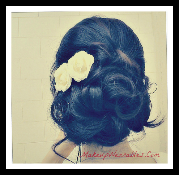 Elegant Updo with curls for a party, prom, wedding, homecoming, long hair tutorial