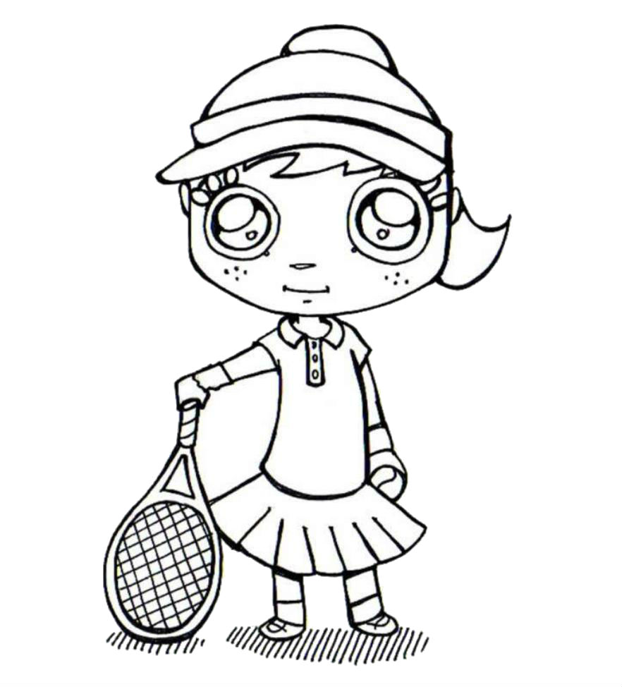 tennis coloring book pages - photo#32