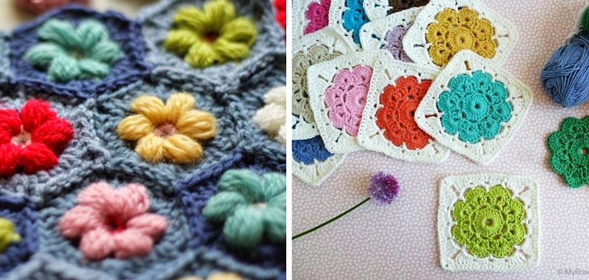 Inspiration Crochet Floral Granny Patterns Sarita Creative