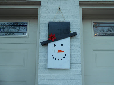DIY reversible decoration-snowman side
