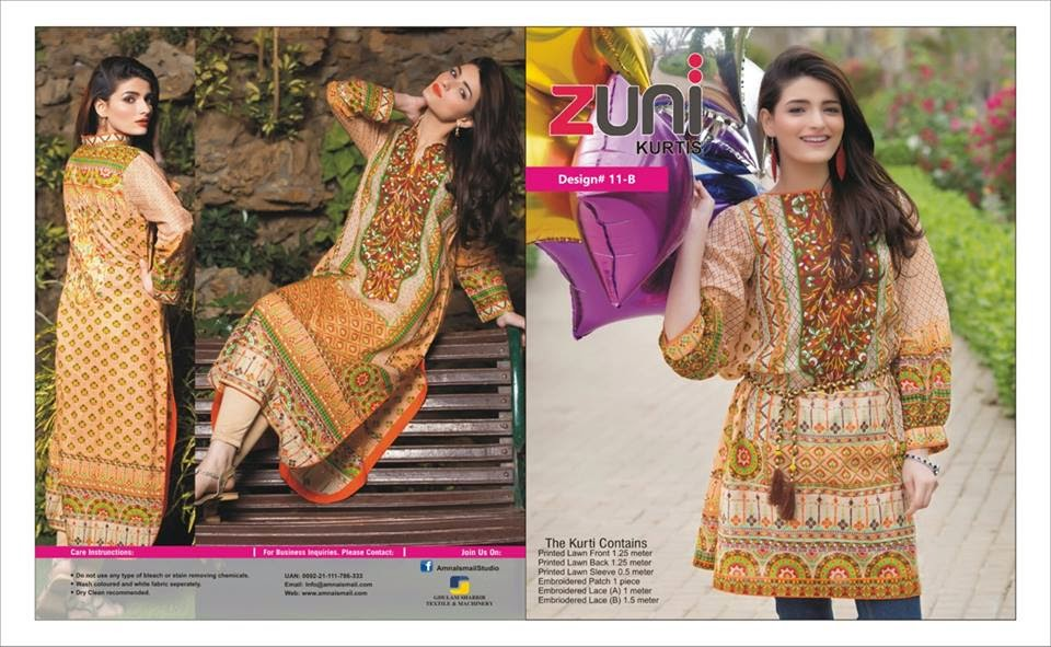 Amna Ismail kurtis collection 2015