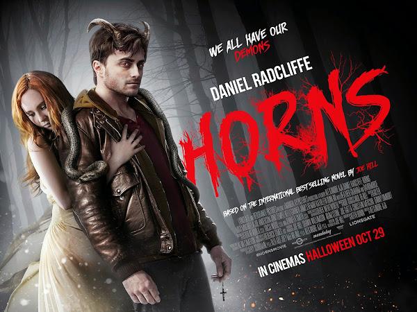 ชมแดเนียล แรดคลิฟฟ์ มีเขาปีศาจงอกออกจากหัว !!..ในตัวอย่างหนัง HORNS (คนมีเขา เงามัจจุราช) poster