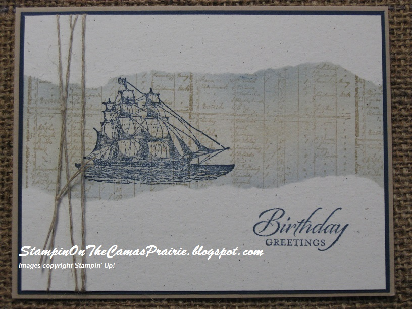 Stampin On The Prairie The Open Sea Masculine Birthday Card