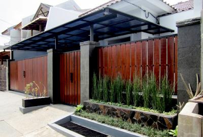 model pagar rumah minimalis modern