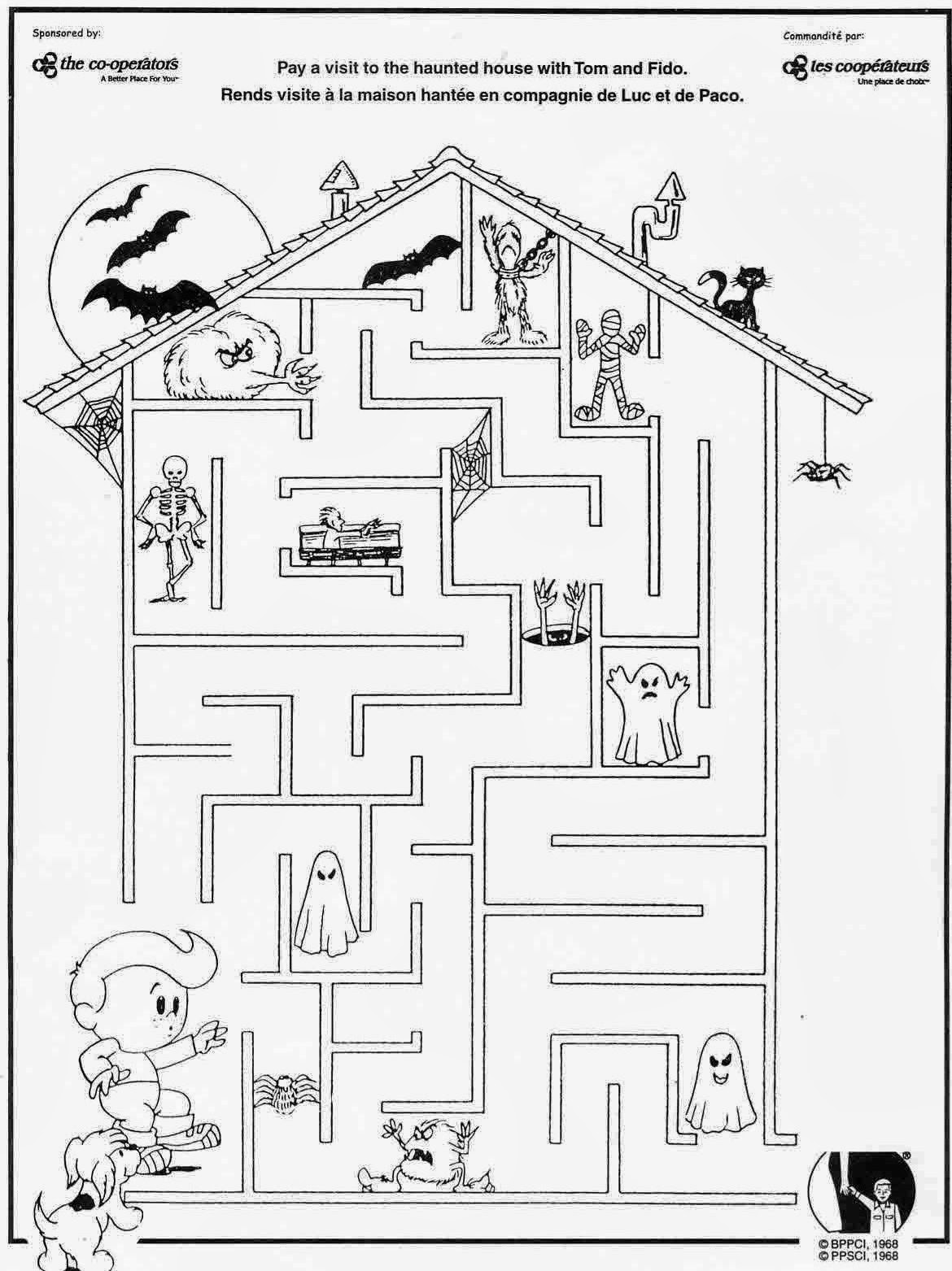 This is an image of Accomplished Halloween Maze Printable