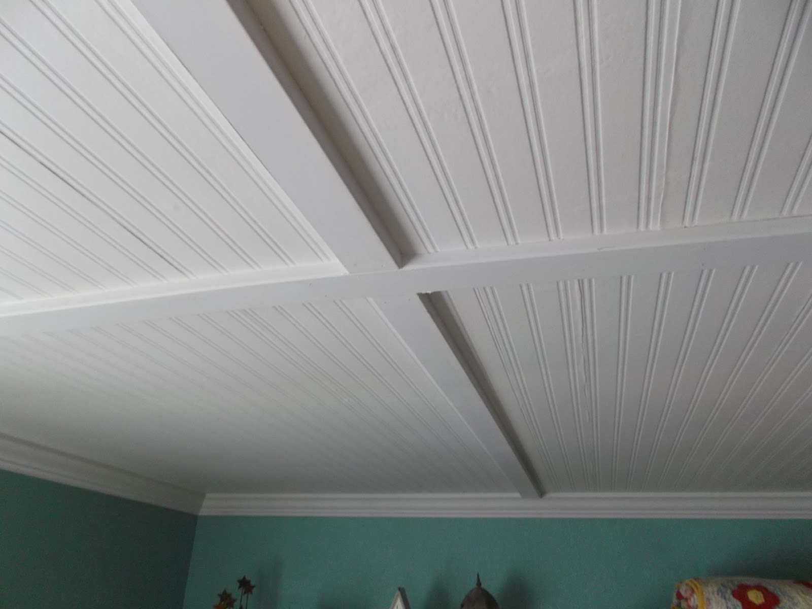 Living a cottage life beadboard ceiling for Bathroom ceiling ideas