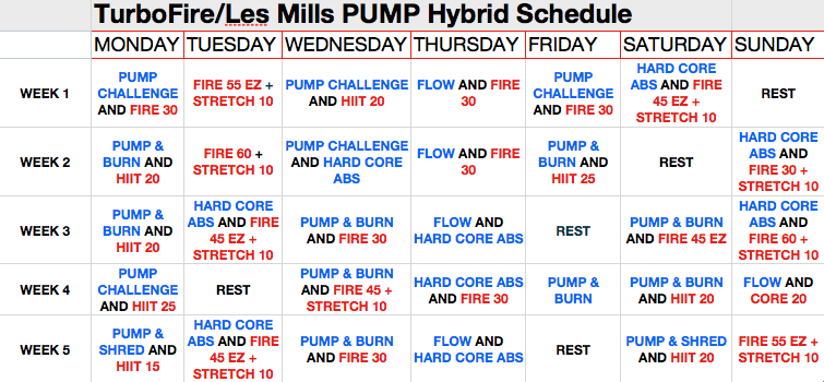 Here is my Workout Plan for the week and Week One Les Mills Body Pump ...