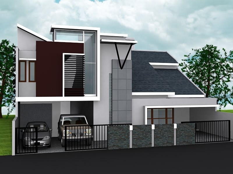 gambardesain3d rumah kost minimalis