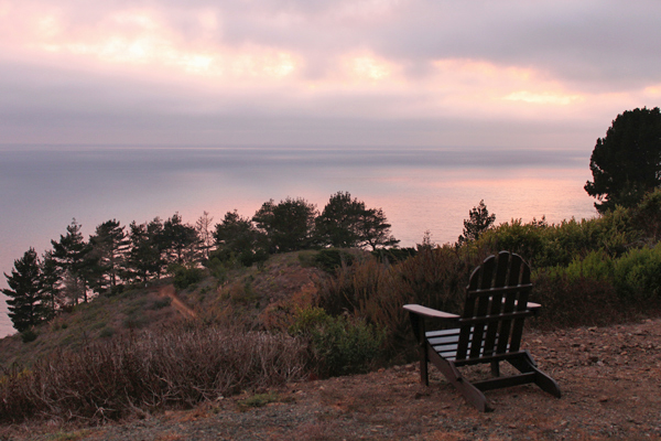 Sunset at Treebones, Big Sur