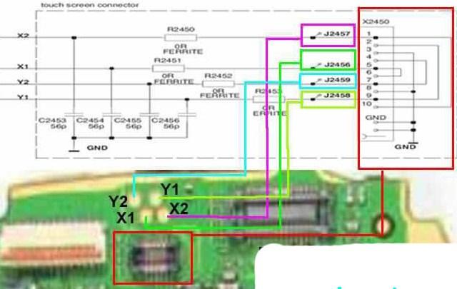 Nokia 5800 touchscreen solution,jalur touchscreen nokia 5800nokia 5800 ...