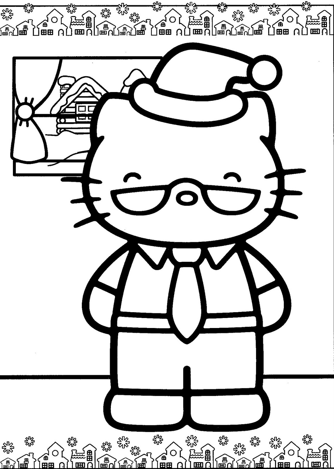hello kitty holiday coloring pages - photo#32