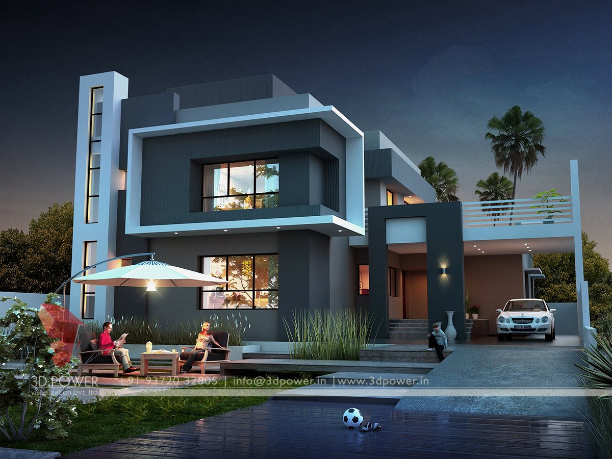 Ultra modern home designs home designs contemporary for Modern triplex house designs