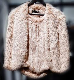 H Brand Emily Peony Rabbit Fur Jacket