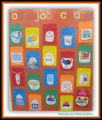 Our Job Chart: Head Start Classroom Jobs via RainbowsWithinReach
