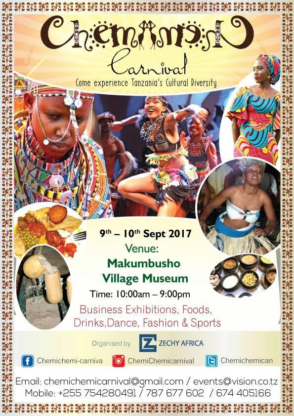 Tamasha la Chemichemi Carnival Kufanyika Jijini Dar Septemba 9-10, 2017