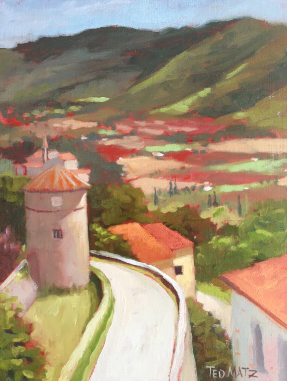 Painting of View of Cortona Valley