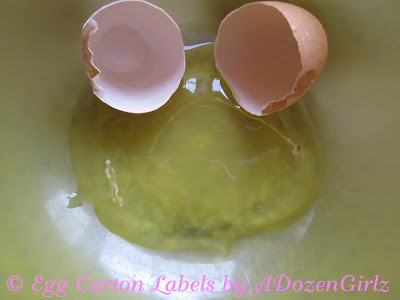 Egg with no yolk, see tissue fragment at 3 o'clock in this picture.