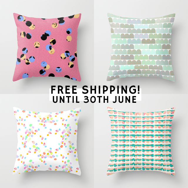 patterened cushions by laura redburn