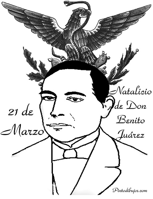Benito Juárez para colorear