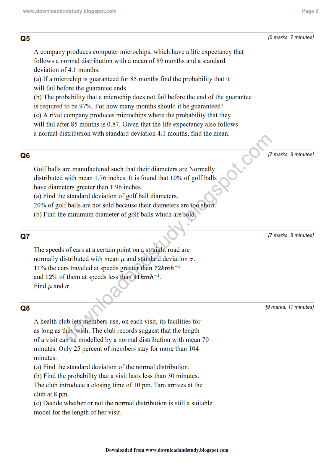 Worksheets Normal Distribution Worksheet download study as statistics normal distribution revision test solution here to distribution