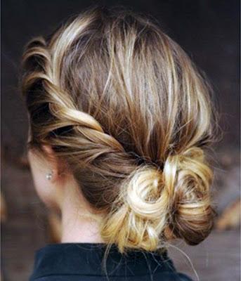 gaya rambut simpel untuk pesta