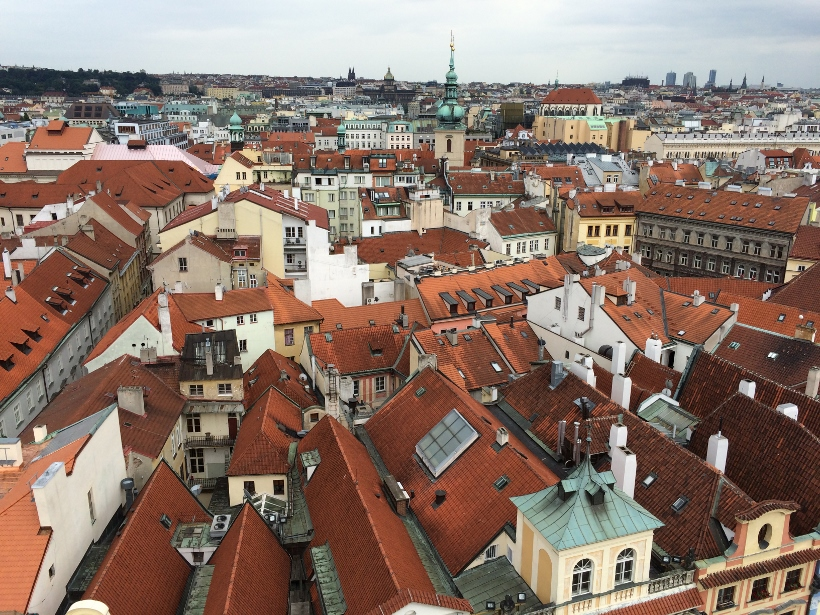 Prague rooftop view