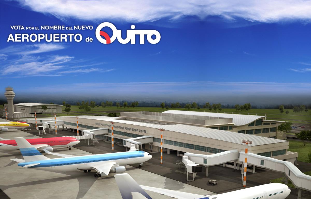 Aeroporto Quito : Nuevo concurso para el nombre del aeropuerto de quito