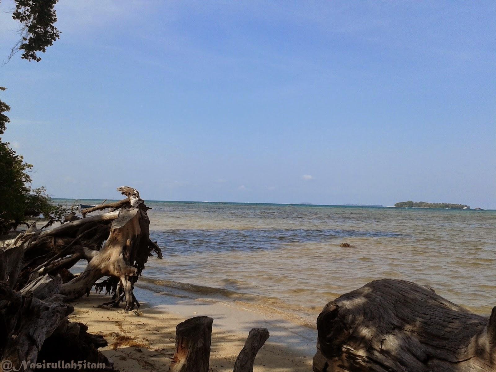 Pemandangan pantai dibelakang rumah, Karimunjawa