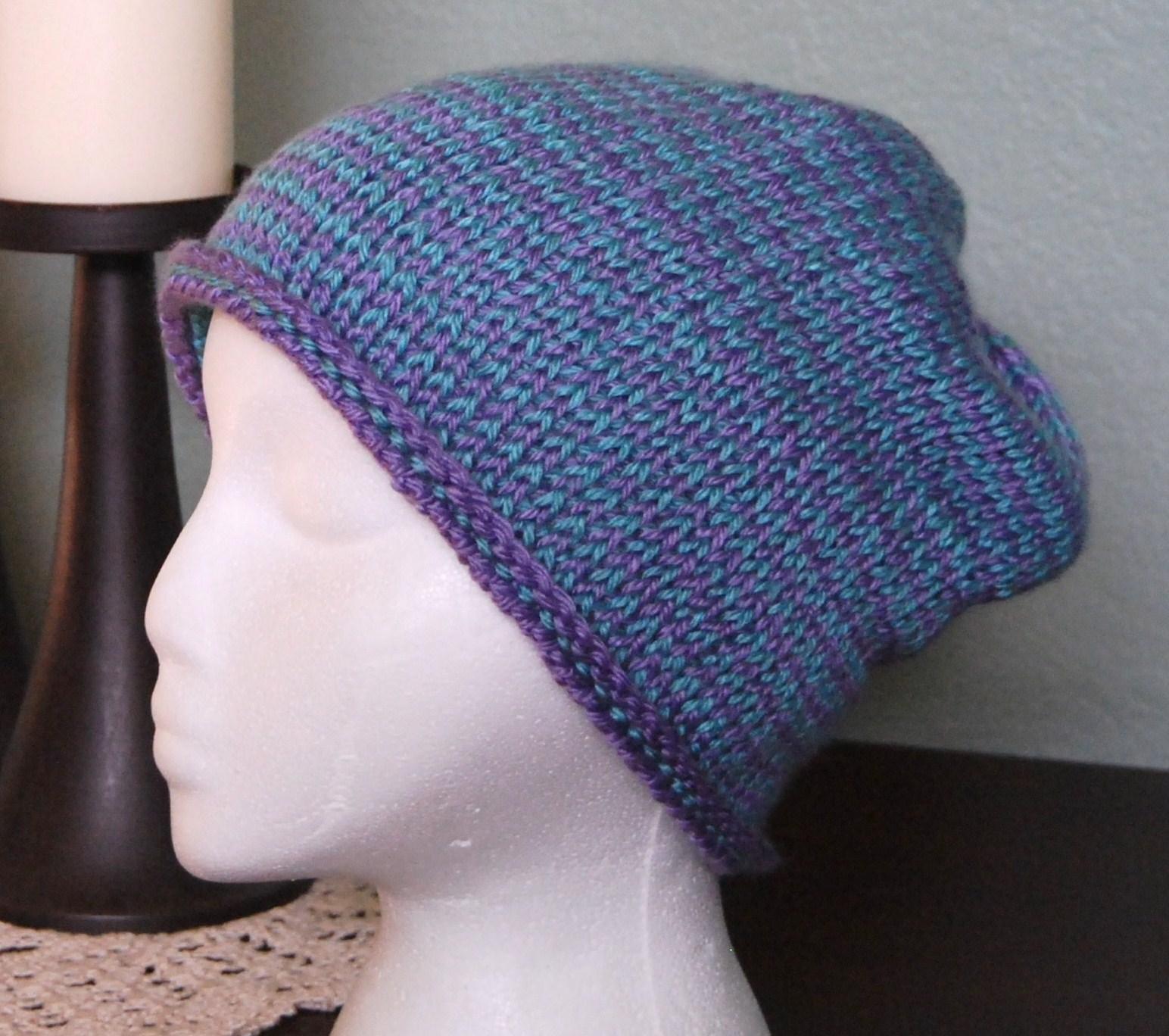 Crochet Knit Stitch Hat : The Laughing Willow: Seaming Tunisian knit stitch and a free pattern!