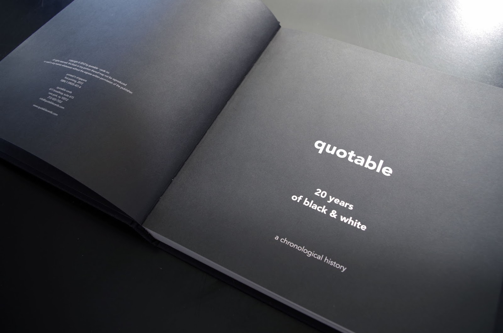 Monica emmons award winning book quotable 20 years of black white 2013 international book award winner for best design this 200 page coffee table book is graphically heavy and showcases quotables 200 best greeting card kristyandbryce Image collections