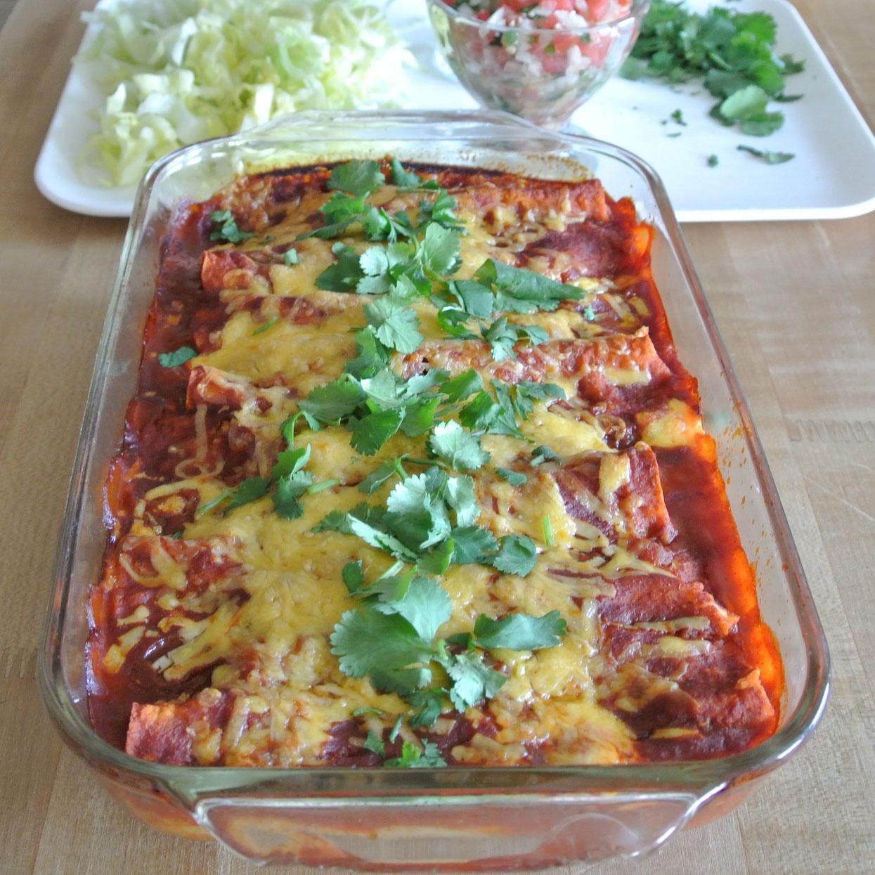 Mom, What's For Dinner?: Slow Cooker Shredded Beef Enchiladas