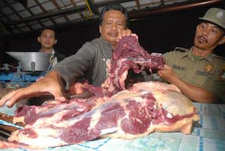 Ciri ciri Daging Gelonggongan