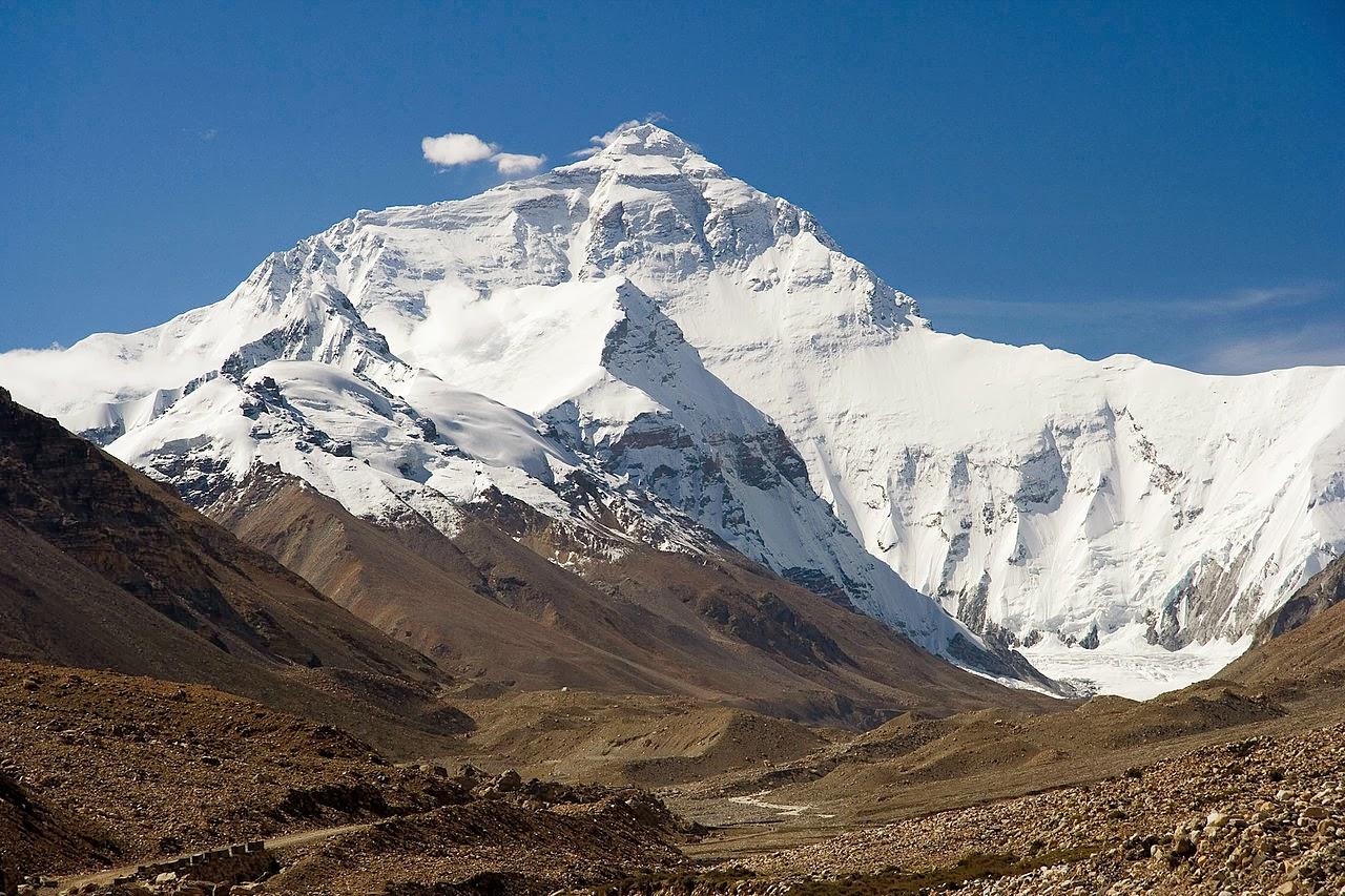 Cara norte del Everest.