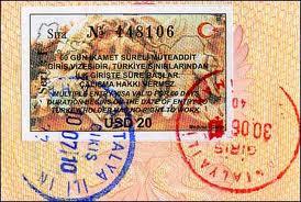 Туристическая виза в Турцию