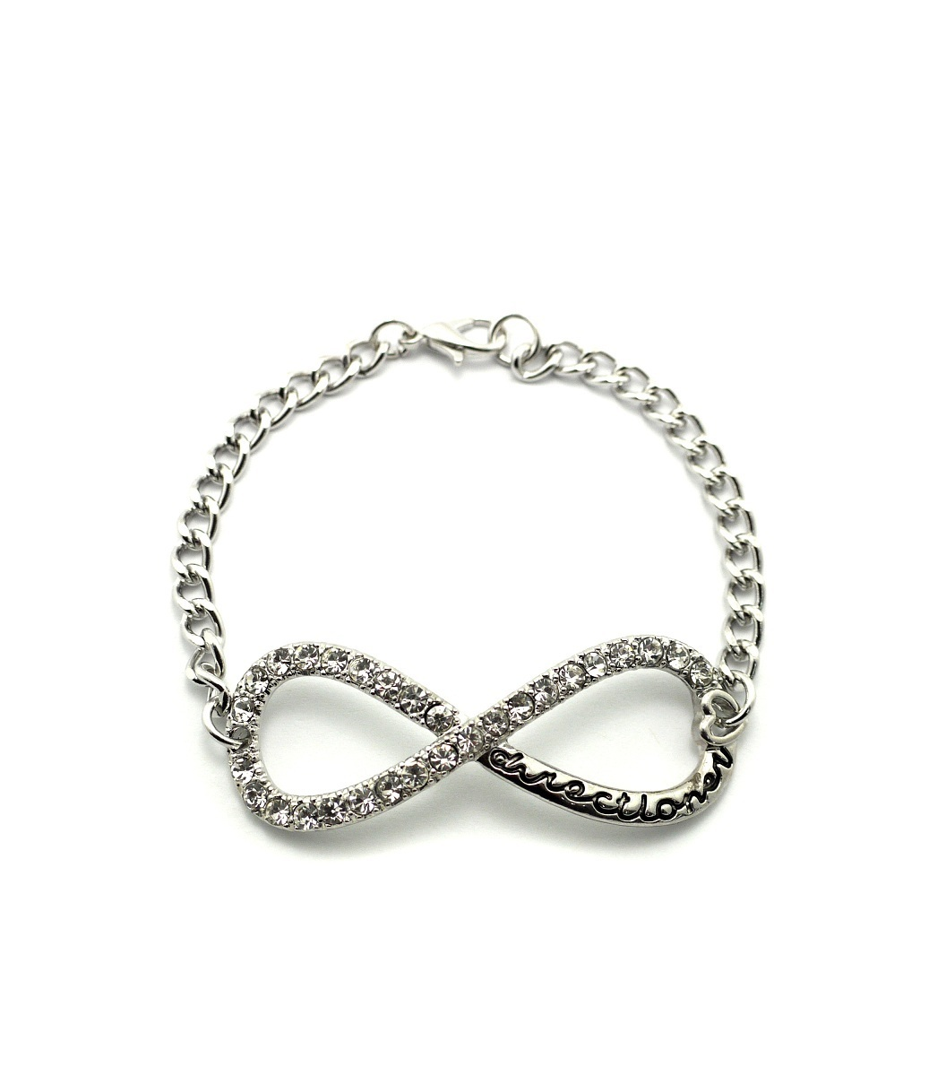 "ICED OUT ONE DIRECTION INFINITY DIRECTIONER 4mm & 7"" LINK CHAIN BRACELET XB282"