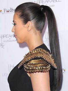 Kim Kardashian Ponytail Hairstyles