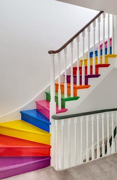 ways decorate stairs