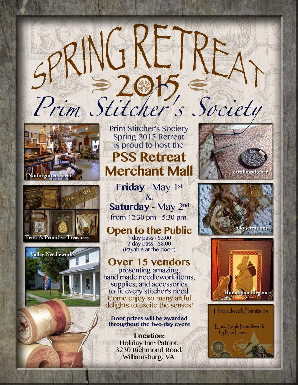 Prim Stitcher's Society Spring Retreat