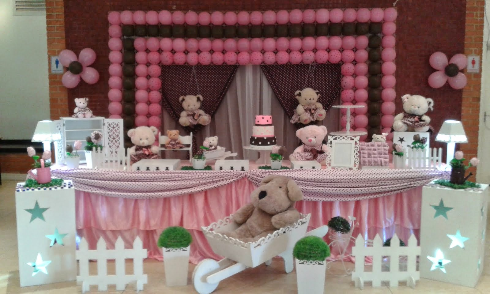 Ursos rosa com tela de PDS