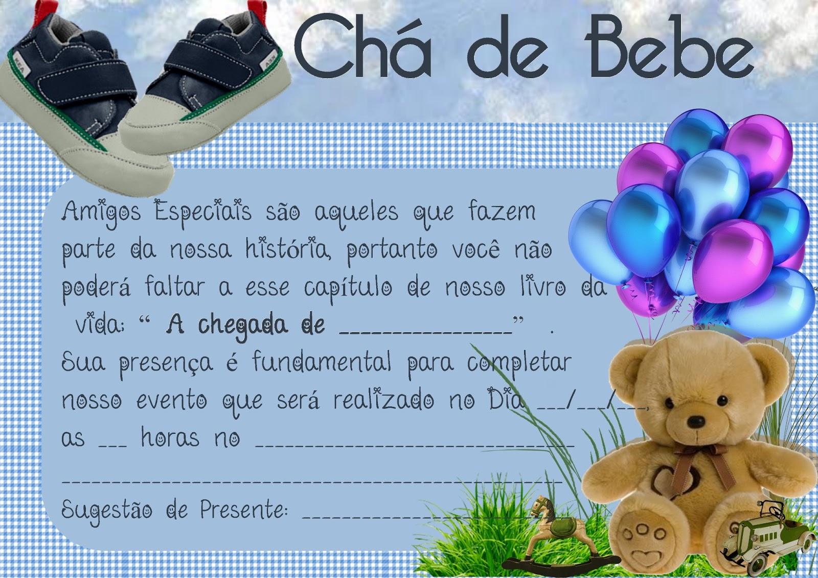 Kaxa Da Arte Convite Chá De Bebe Cha De Fralda Gratis Para