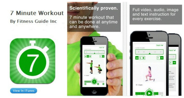 7 minute workout app, review on 7 minute workout app