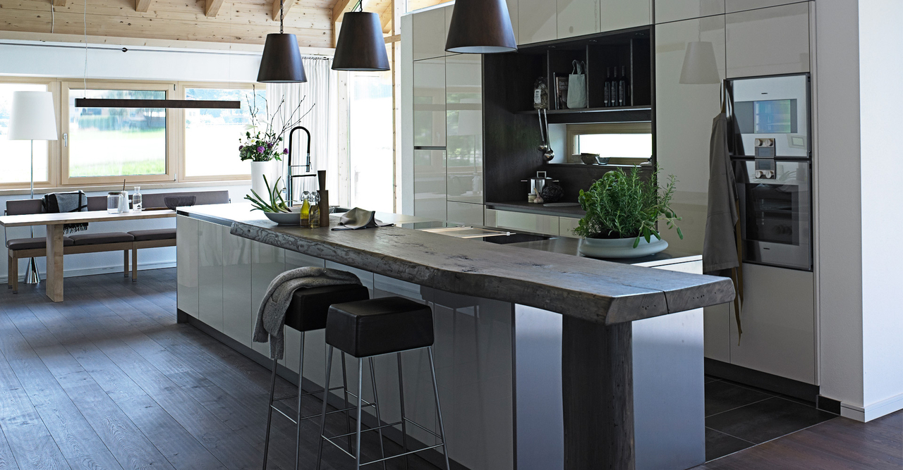 R stico y moderno una mezcla radical cocinas con estilo for Barras de cocina de granito