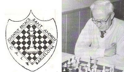 Josep Grau y el Escudo de la Joventut Escaquista de Sant Andreu