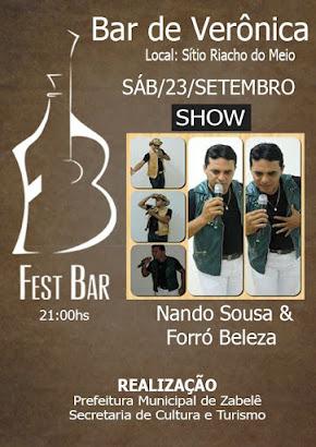 É Neste Sábado...23 de setembro. No Bar de Veronica e Tonhão.