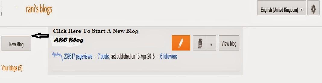 Click on New Blog Option