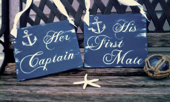nautical wedding signs