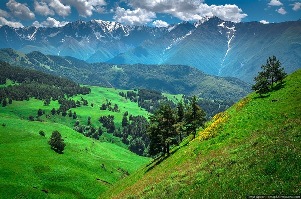 Beautiful Scenery of the Mountain Ingushetia Russia