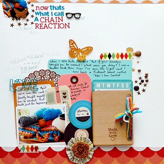 From High In The Sky scrapbooking with a product driven process for Get It Scrapped